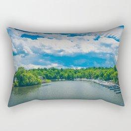 Small town Marina Rectangular Pillow