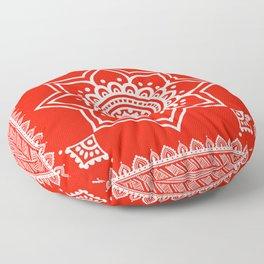 Ethnic Flame Scarlet Floor Pillow