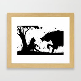 beauty and the beast.... Framed Art Print