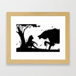 beauty and the beast.... Framed Art Print