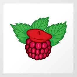 Raspberry Beret Art Print