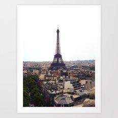 Eiffel Tower from The Arc De Triomphe Art Print