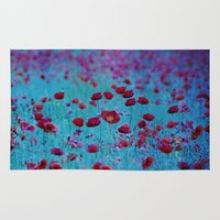 poppy Area & Throw Rugs featuring Poppy by Anne Seltmann