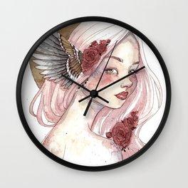 Winged Goddess Wall Clock
