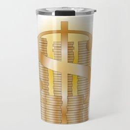Piles of Coins Travel Mug