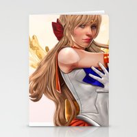sailor venus Stationery Cards featuring Sailor Venus by KlsteeleArt