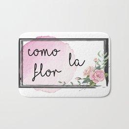 Como la flor Bath Mat