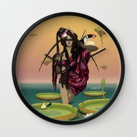 guardians Wall Clocks featuring GUARDIANS #1 by ANVIK