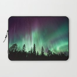 Colorful Northern Lights, Aurora Borealis Laptop Sleeve