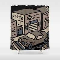 detroit Shower Curtains featuring Detroit 1 by stephenwilliamschudlich