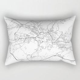 Minimal City Maps - Map Of Florence, Italy. Rectangular Pillow