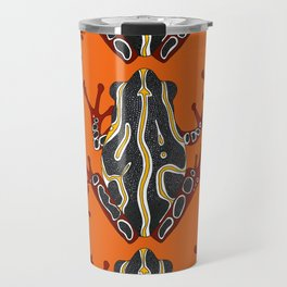 congo tree frog orange Travel Mug