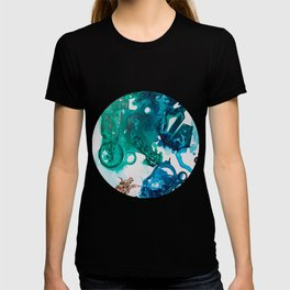 Turtle Exploring the Great Deep Blue Sea T-shirt