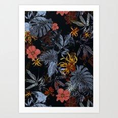 Tropical Midnight Art Print
