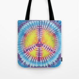 Peace Tie Dye Tote Bag