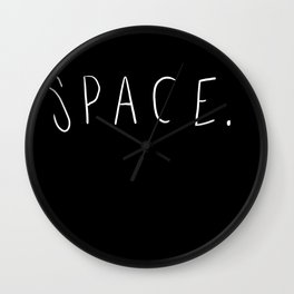 Space. Wall Clock