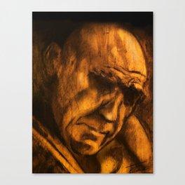 on wood Canvas Print