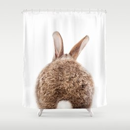 Bunny Tail, Brown Bunny Rabbit, Baby Animals Art Print By Synplus Shower Curtain