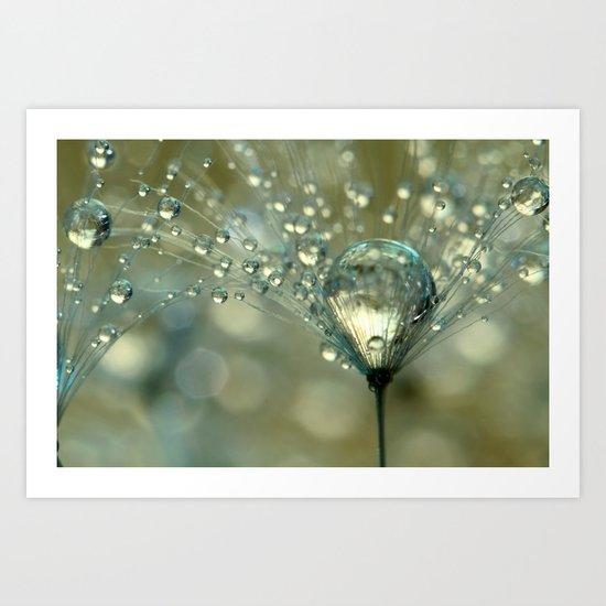 Gold Sparkles Art Print