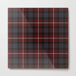 Scottish Fraser Tartan Metal Print