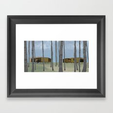 wood pavilion Framed Art Print