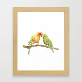 Parakeet - Friendship Framed Art Print