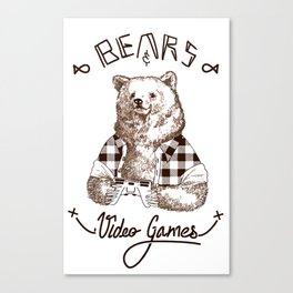 Bears and Videogames Canvas Print