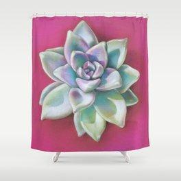 Spring Succulent in Magenta Shower Curtain