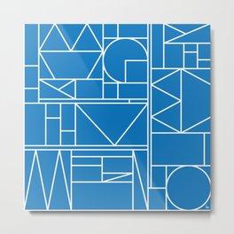 Kaku Blue 2 Metal Print
