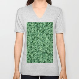 Nature print, Green rapeseed agriculture field Top View. Rapeseed. Unisex V-Neck