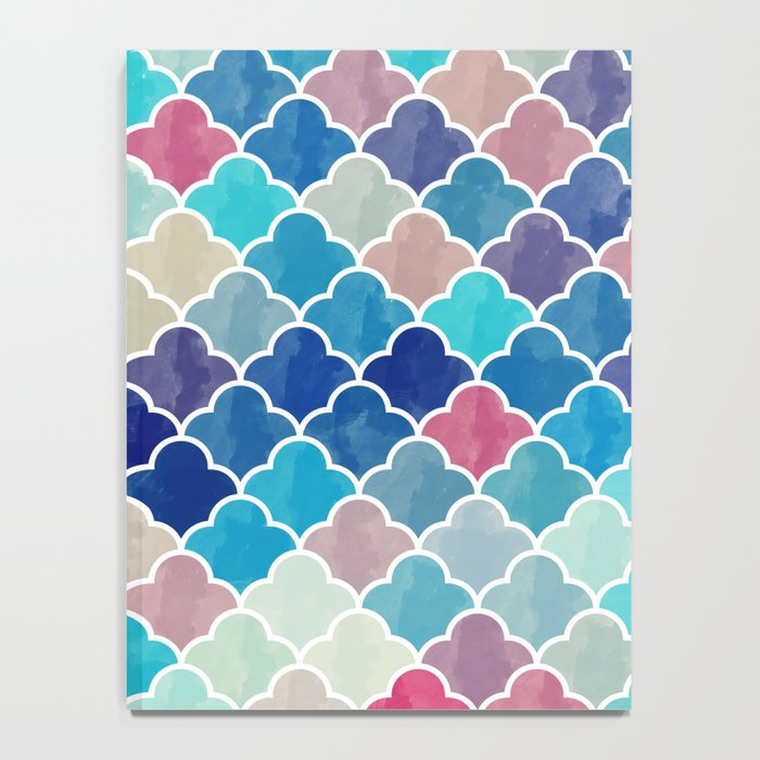 Watercolor Lovely Pattern VVXV Notebook