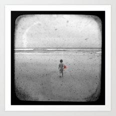 Little Red Sailboat - Through The Viewfinder (TTV) Art Print