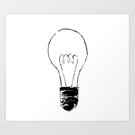 Lightbulb Sketch Art Print