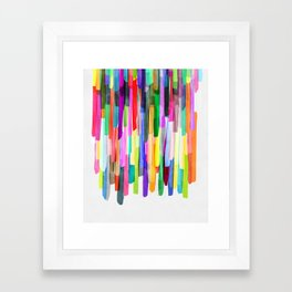 Colorful Stripes 4 Framed Art Print