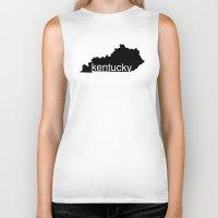 kentucky Biker Tanks featuring Kentucky by Isabel Moreno-Garcia
