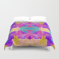 glitch Duvet Covers featuring GLITCH  by Vasare Nar