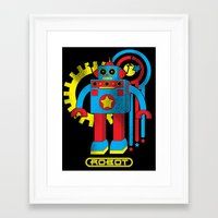 law Framed Art Prints featuring Asimov's Law by Maggie Davidson