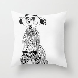 Malcolm the Maladjusted Meerkat Throw Pillow