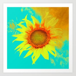 sunflower decor #- Art Print