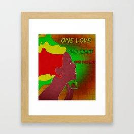 One Love girl Framed Art Print