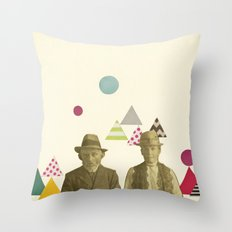 Childhood Sweethearts Throw Pillow