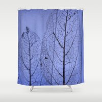 leaf Shower Curtains featuring leaf by Bunny Noir