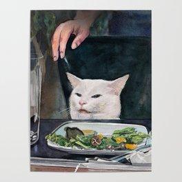 Woman Yelling at Cat Meme-2 Poster