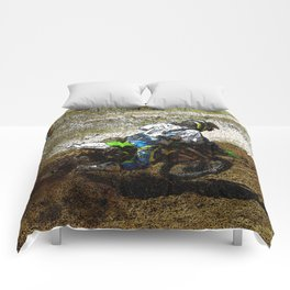 Round the Bend - Dirt-Bike Racing Comforters