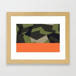 Swedish m90 Camo Framed Art Print