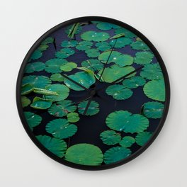 Temple Lilypond Wall Clock