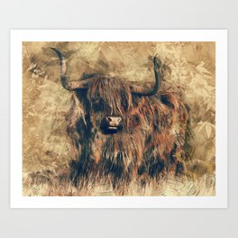 Highland Bull Art Art Print
