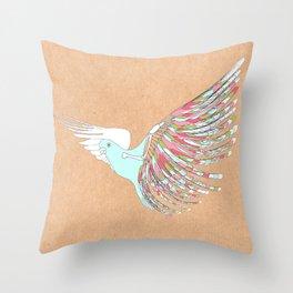 Winterbird Throw Pillow