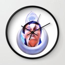 Priestess of the moon crystal Wall Clock