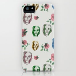 dead girl and roses iPhone Case